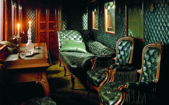 Kuva Keisarin junan sisältä