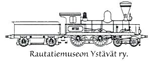 Rautatiemuseon Ystävät ry:n logo